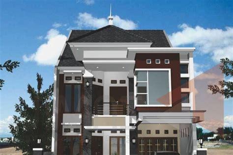 desain rumah  tanah leter  gontoh