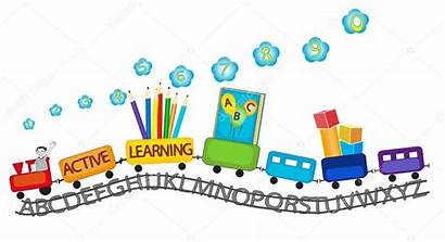 Preschool Learning Active Train Clipart Clip Children
