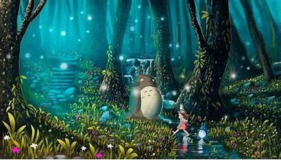 Totoro Ghibli Studio Neighbor Wallpapers Backgrounds Desktop