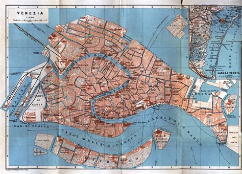 maps  venice detailed map  venice  english maps