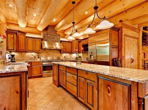 cabin style kitchen cabinets log cabin cabin pinterest cabinets cabin and logs