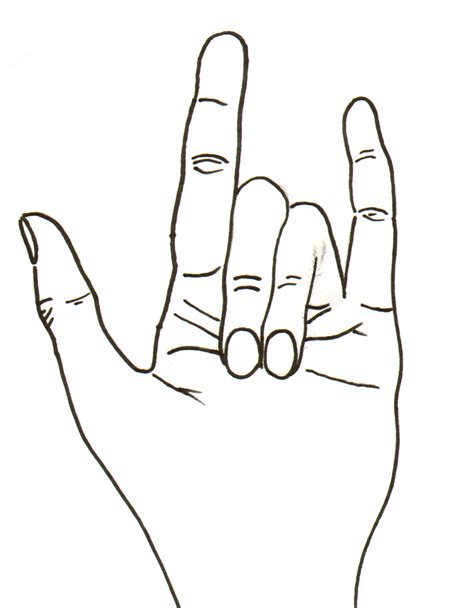 I Love You In Sign Language Symbol Of Graphics