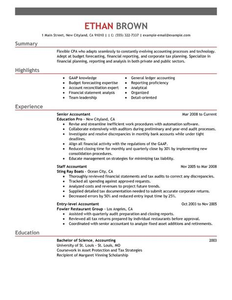 resume for an accountant accountant resume sample my perfect resume