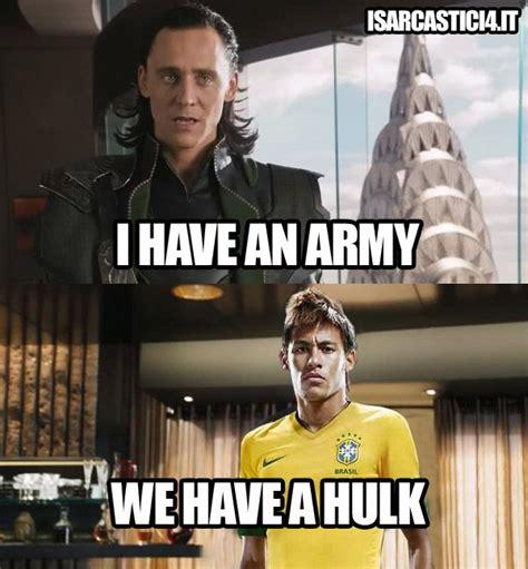 Brazilian Memes - avengers brazil soccer meme football avengers neymar brazil hulk marvel