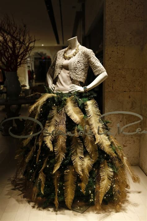 46 fashion inspired christmas trees made from dress forms