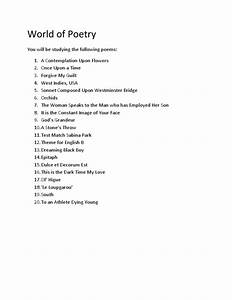 World Of Poetry Guide