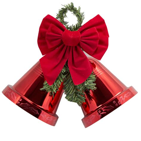 trim a home 174 8 quot medium red double bell seasonal