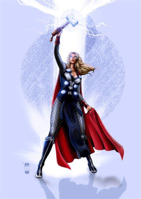 Lady Thor Fan Art Is Worthy To Wield Mjölnir Comics And
