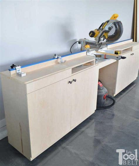 mobile miter  station  storage mitre  station