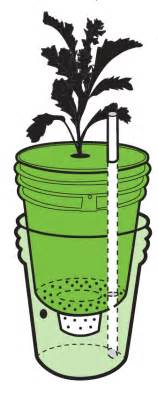 build a self watering container do it yourself