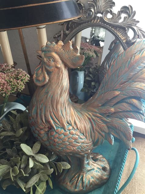 large french rooster statue kitchen table centerpiece hand