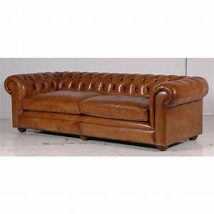 canape en cuir italien chesterfield With tapis berbere avec canape cuir vintage camel