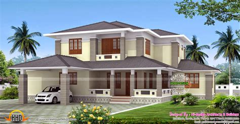style home plans 2700 sq ft kerala style sloped roof house kerala home