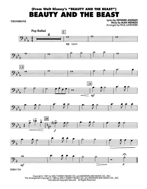 But in this lesson i want to focus on combining trombone warm up with getting to know your instrument better and heat up your brain at the same time. Beauty and the Beast - Trombone Sheet Music   Paul Lavender   Concert Band