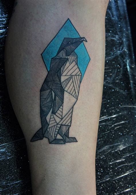 penguin tattoos  leg
