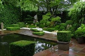Schöne Gärten Anlegen : stillvoll angelegter gartenteich gartenteich pinterest koiteich japanische und g rten ~ Markanthonyermac.com Haus und Dekorationen