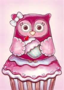 Cupcake Cute Owl Drawings