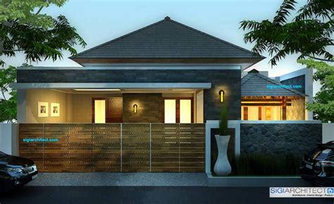 rumah modern minimalis  tropis rumah satu lantai