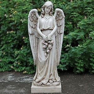 outdoor angel statues 36 quot holding wreath indoor outdoor garden statue yard decor 66290 ebay