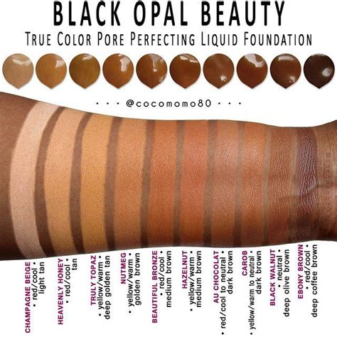 pores of color black opal true color pore perfecting liquid foundation