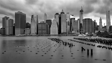 york city monochrome wallpaper