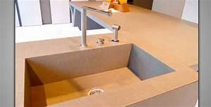 Beton Pour Plan De Travail : plan de travail b ton cir la cuisine lancelin fils caen ~ Premium-room.com Idées de Décoration