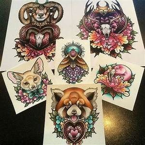 Breathtaking multicolor new school animal tattoo designs ...