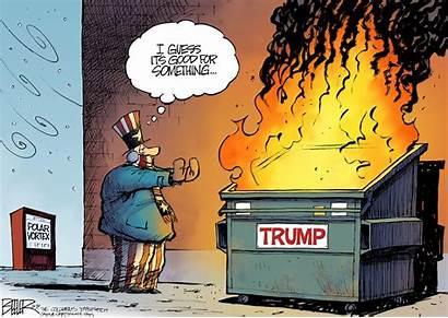 Dumpster Fire Cartoon Beeler Vortex Polar Opinion