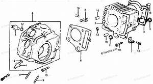 Honda Motorcycle 1981 Oem Parts Diagram For Cylinder