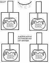 Apple Printable Candy Necklace Churchhousecollection Apples Crafts Lessons Sunday Coloring Printables sketch template