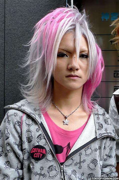 Shibuya Guys Fashion Makeup And Pink Hair