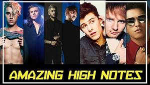 POP MALE SINGERS HITTING HIGH NOTES - YouTube