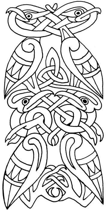 Kleurplaat Randen keltische randen kleurplaat
