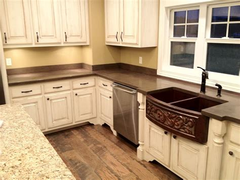 Kitchen Countertops With Backsplash by Concrete Countertops Backsplash Concrete Countertops