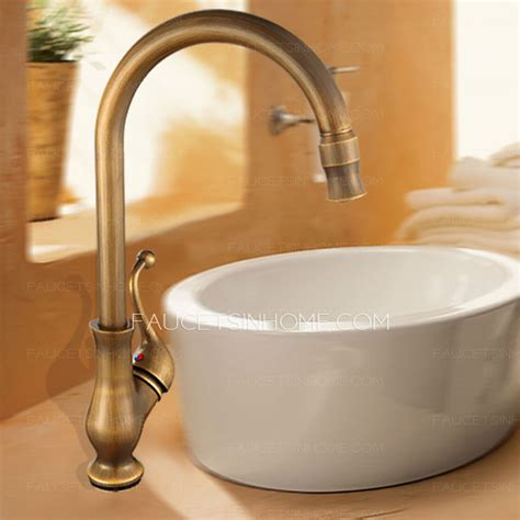 antique style bathroom faucets brass brown faucet