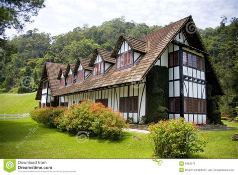 colonial tudor style mansion stock image image  colony