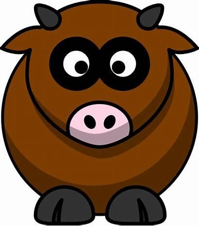 Cow Brown Cartoon Clipart Clip Clker Cliparts