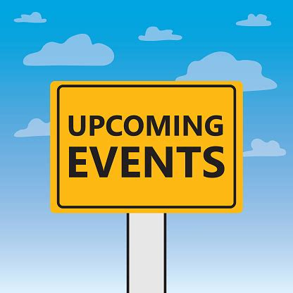 Upcoming Events Written On A Billboard Stock Illustration ...