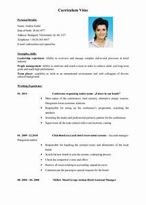 english cv vitae With english resume example