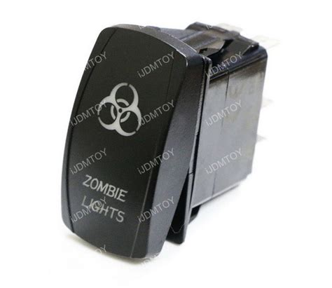 Zombie Lights Pin Spst Off Blue Led Indicator Rocker