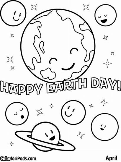 Coloring April Pages Earth Happy Sheet Sheets
