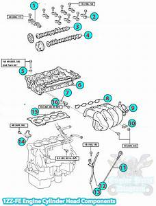Toyota Corolla Intake Gasket Diagram