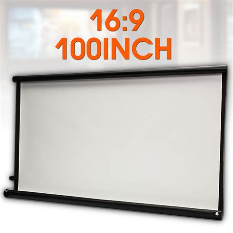 100'' 16:9 Projector HD screen Canvas Front Projection