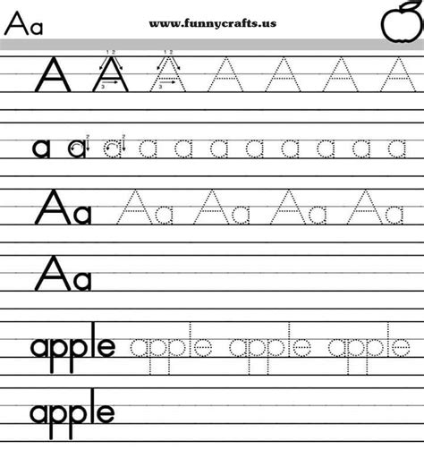 letter a handwriting worksheets for preschool to