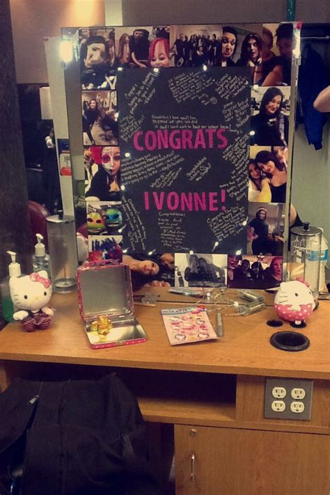 cosmetology graduation poster board  station decoration