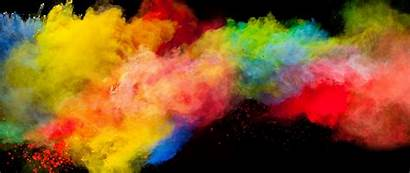 Explosion Colorful Powder Background Widescreen