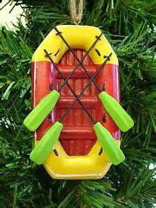 new white water raft paddles river rafting boat sports christmas tree ornament ebay