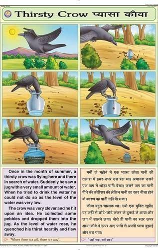 thirsty crow chart english stories  kids english