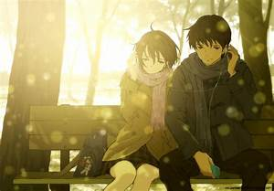 Anime Romantic Couple Hd Wallpaper | Super Wallpapers