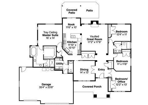 home floor plans with basement house plans craftsman with basement style ranch two